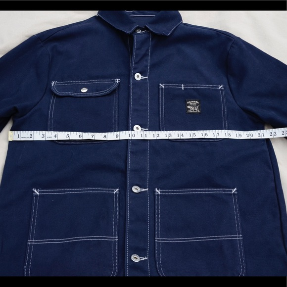 Pointer brand navy canvas field jacket Made in USA ad718c00385e